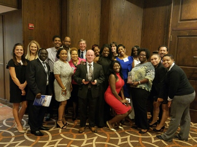 Evergreens at Laurel and Encore at Wheaton Station Teams along with corporate management team celebrate at the PACE Awards